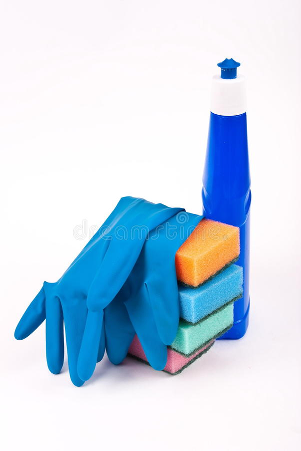Free Rubber Gloves And Kitchen Royalty Free Stock Images - 14595159