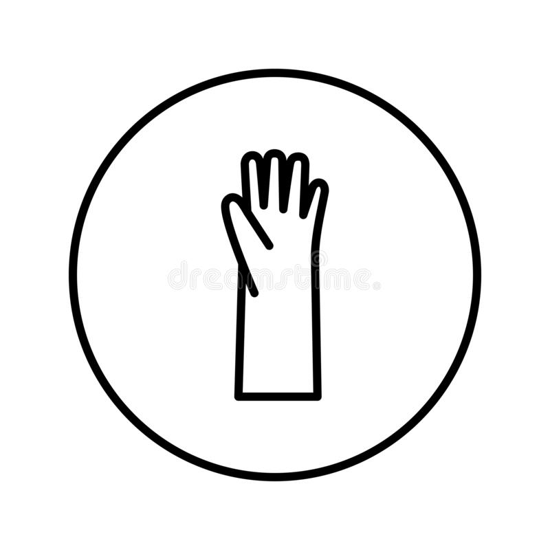 Rubber gloves. Icon. Editable Thin line. Vector illustration stock illustration