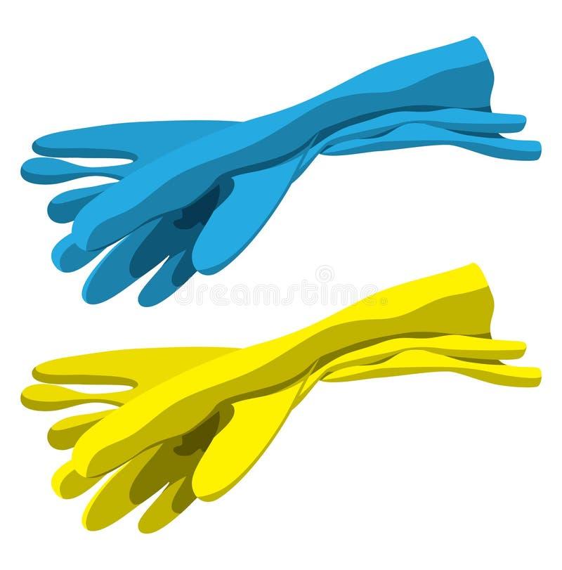 Rubber handschoenen royalty-vrije illustratie