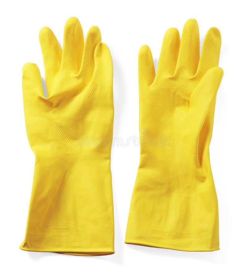 Rubber handschoenen royalty-vrije stock foto's