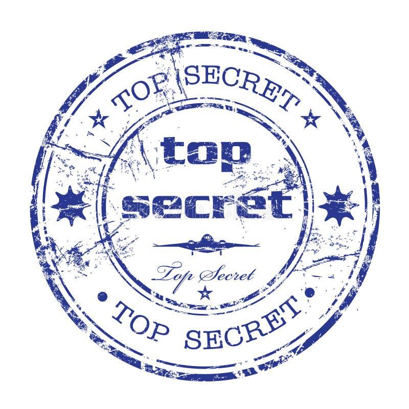 rubber hemlig stämpelöverkant royaltyfri illustrationer