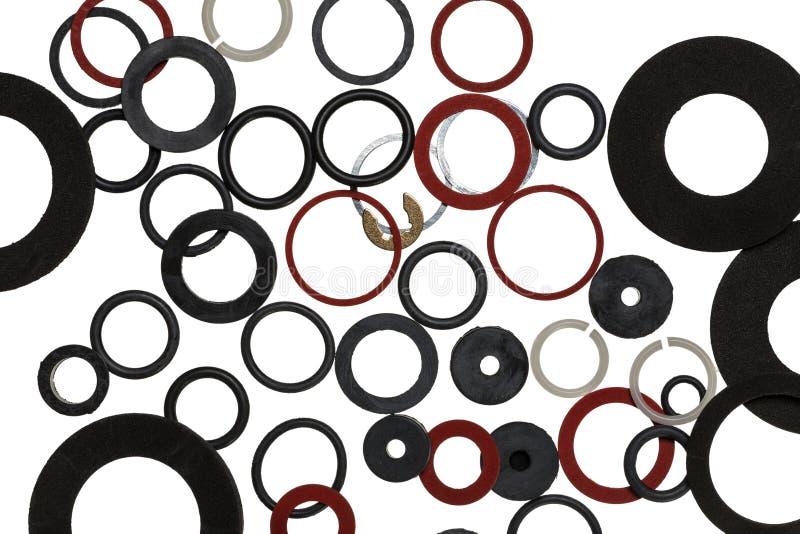 Rubber, plastiek, de achtergrond van metaalverbindingen royalty-vrije stock afbeelding