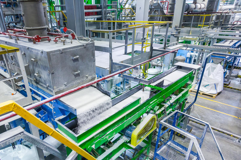 Rubber production line rubber chemical production royalty free stock image