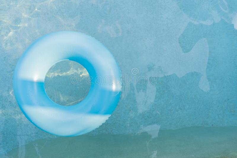 Rubber ring in the pool. Object for travel summer holiday concept stock photography