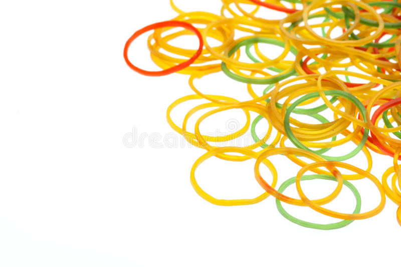 Rubber ring on white. On white background royalty free stock images