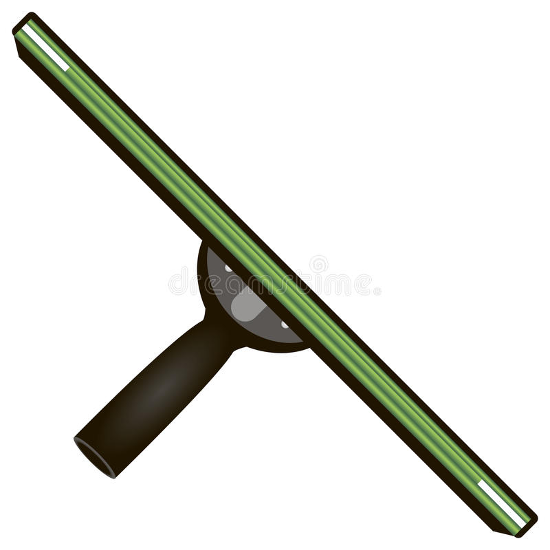 Rubber scraper for cleaning stock illustration