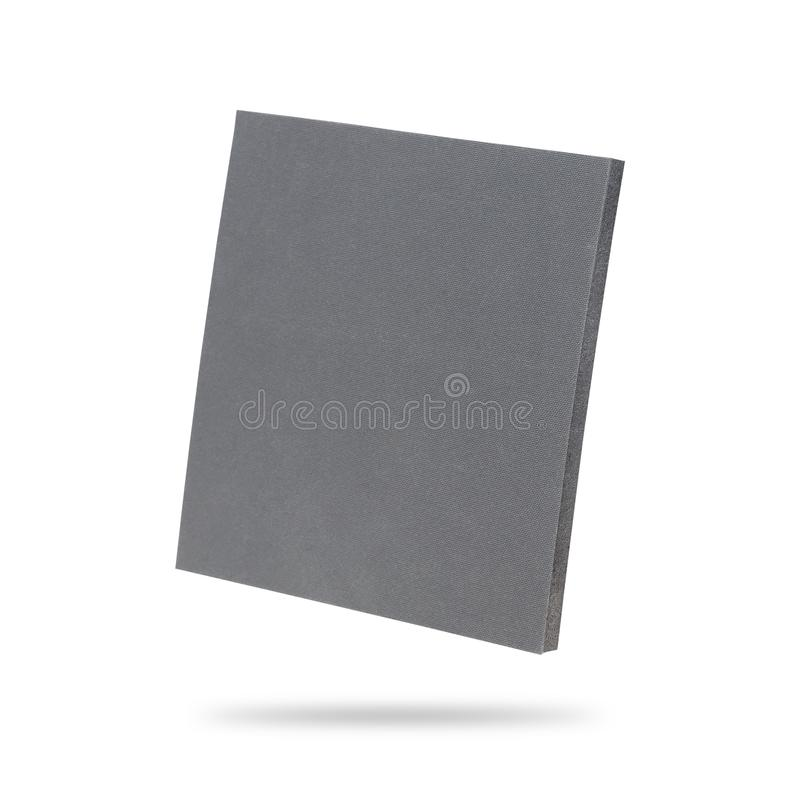 Rubber sheet isolated on white background. Piece of square plastic for industrial. Clipping paths object royalty free stock photos