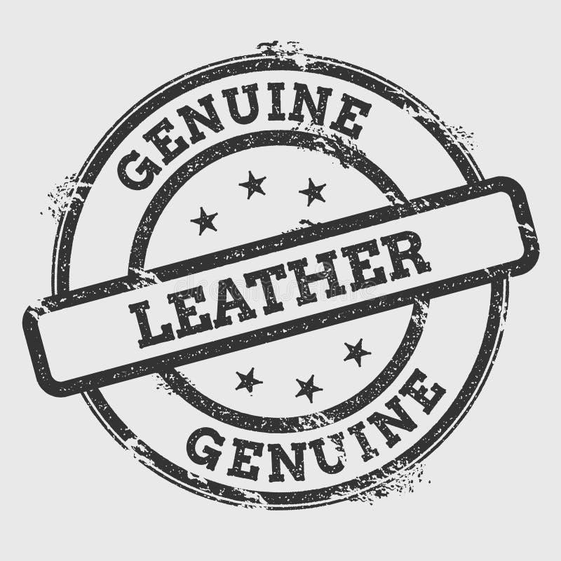 Rubber stämpel för äktt läder som isoleras på vit stock illustrationer