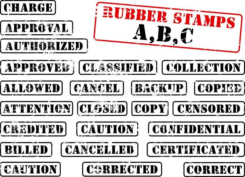 rubber stämpel för abc-samling vektor illustrationer