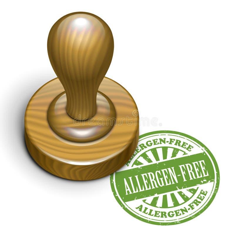 rubber stämpel för Allergen-fri grunge royaltyfri illustrationer