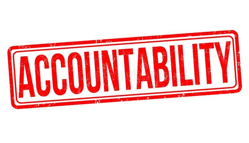 Rubber stämpel för ansvarighetgrunge stock illustrationer