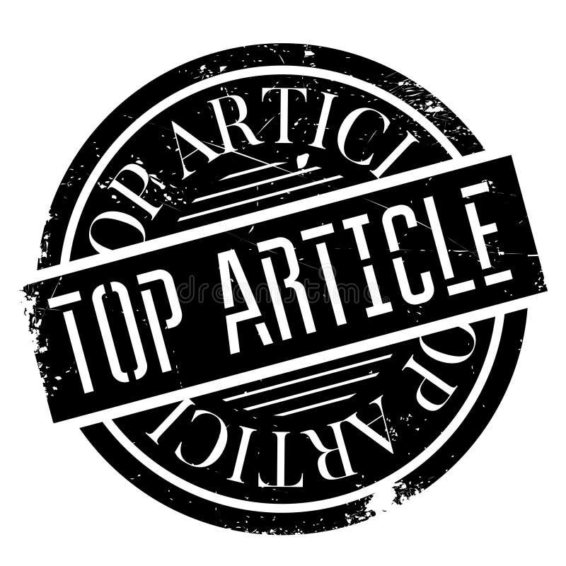 Rubber stämpel för bästa artikel stock illustrationer