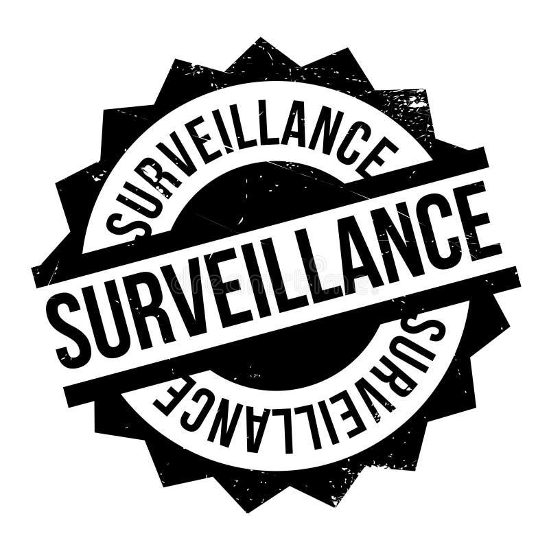 Rubber stämpel för bevakning stock illustrationer