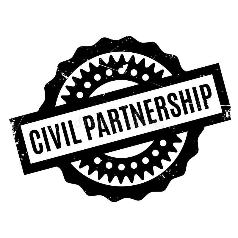 Rubber stämpel för borgerligt partnerskap stock illustrationer