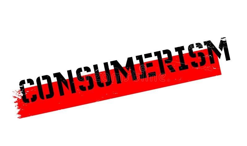 Rubber stämpel för Consumerism vektor illustrationer