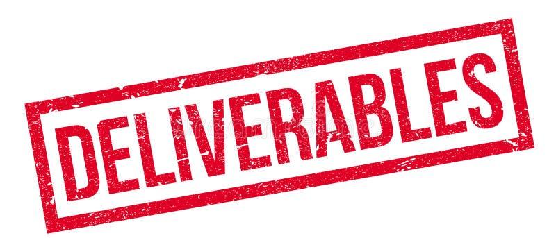 Rubber stämpel för Deliverables royaltyfri illustrationer