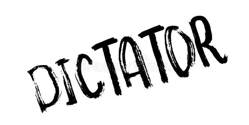 Rubber stämpel för diktator vektor illustrationer