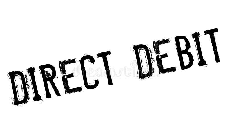 Rubber stämpel för direkt debitering royaltyfri illustrationer