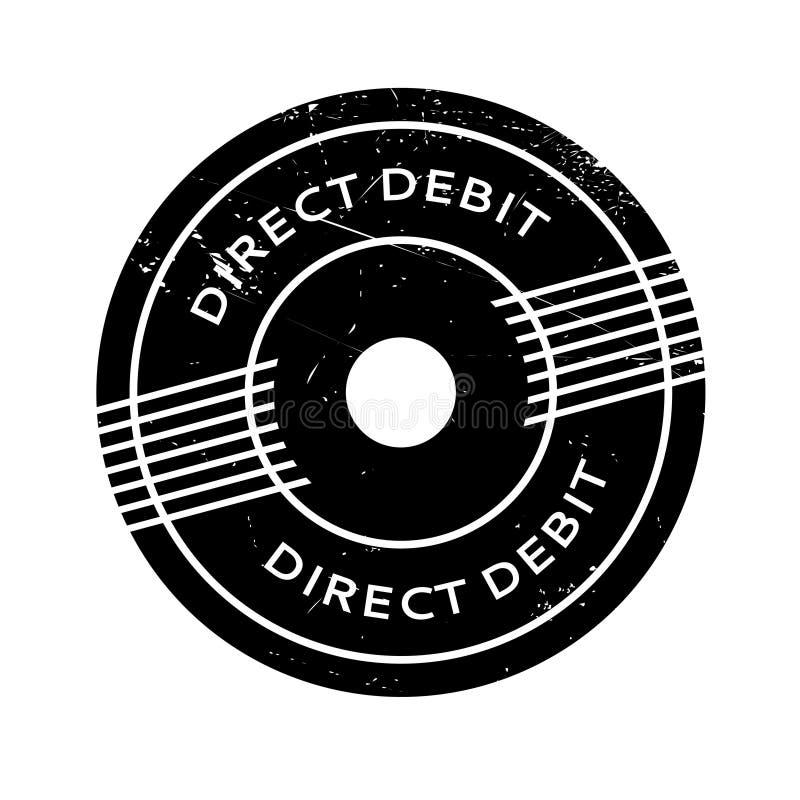 Rubber stämpel för direkt debitering vektor illustrationer