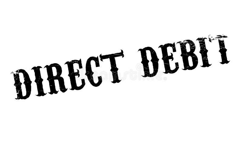 Rubber stämpel för direkt debitering stock illustrationer
