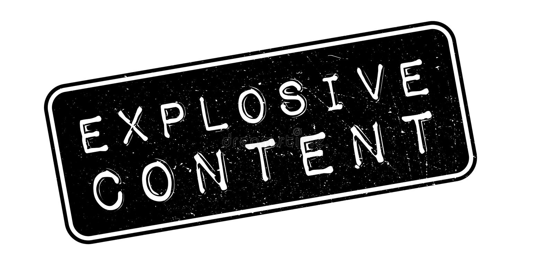 Rubber stämpel för explosivt innehåll vektor illustrationer