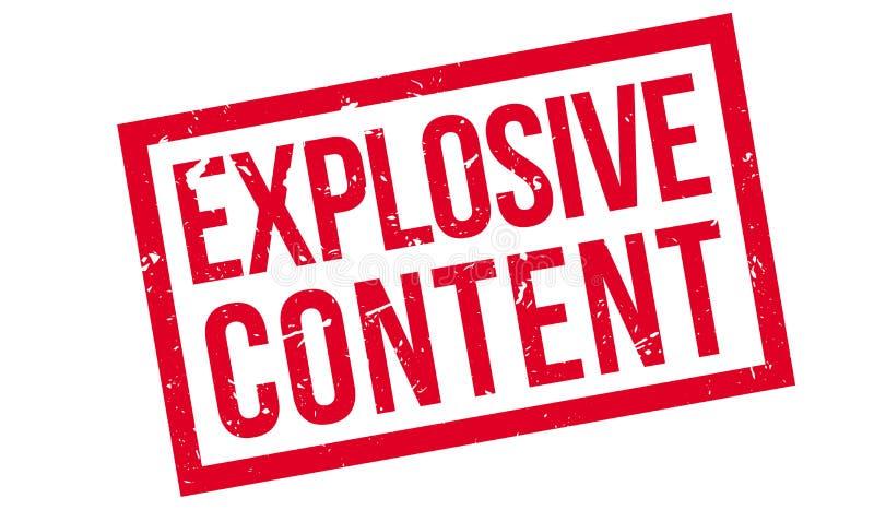 Rubber stämpel för explosivt innehåll royaltyfri illustrationer