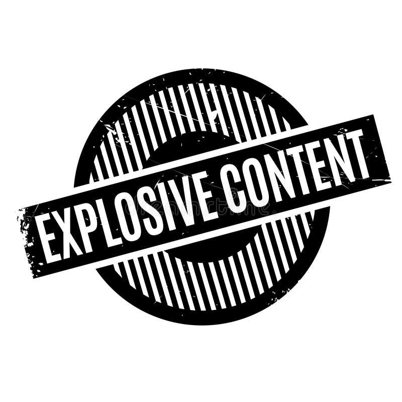 Rubber stämpel för explosivt innehåll stock illustrationer