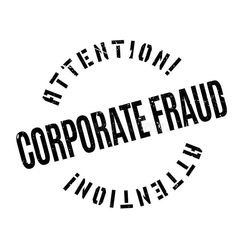 Rubber stämpel för företags bedrägeri vektor illustrationer