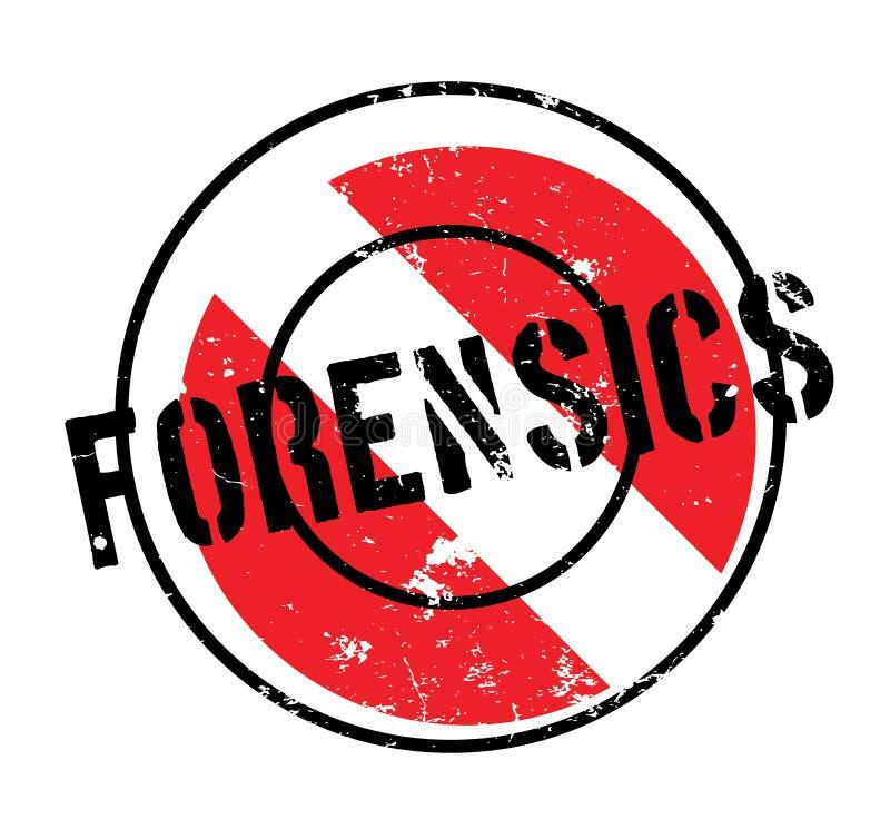 Rubber stämpel för Forensics royaltyfri illustrationer