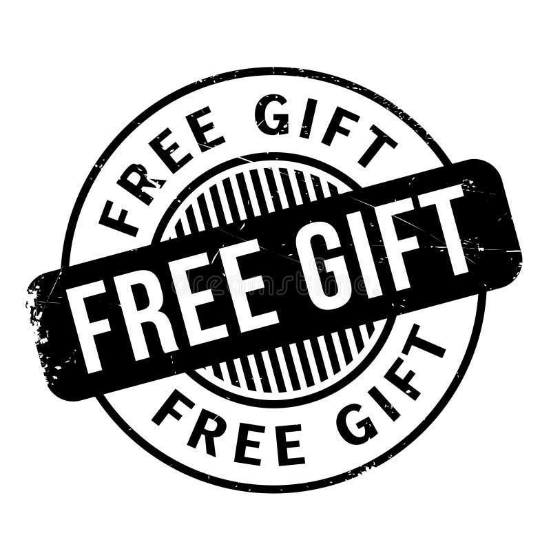 Rubber stämpel för fri gåva arkivbild