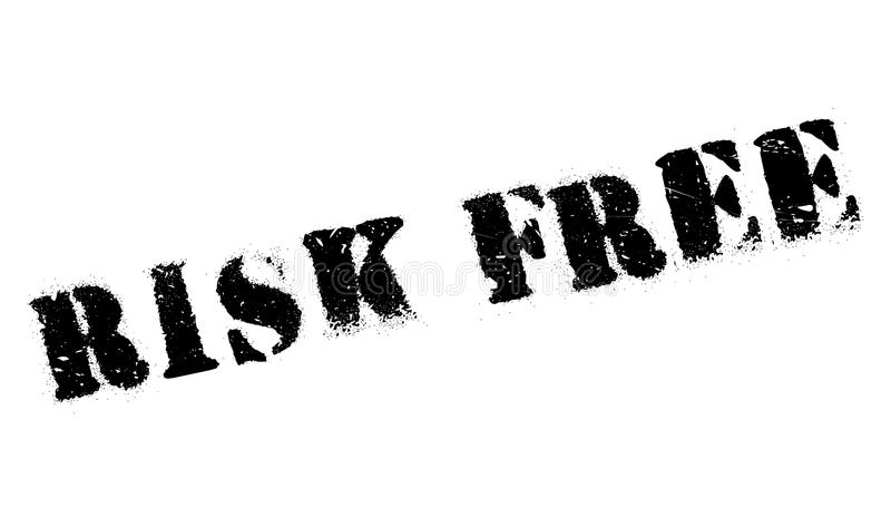 rubber stämpel för fri risk stock illustrationer