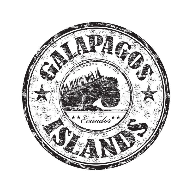 rubber stämpel för galapagos öar royaltyfri illustrationer