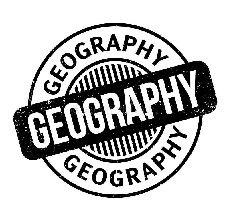 Rubber stämpel för geografi stock illustrationer
