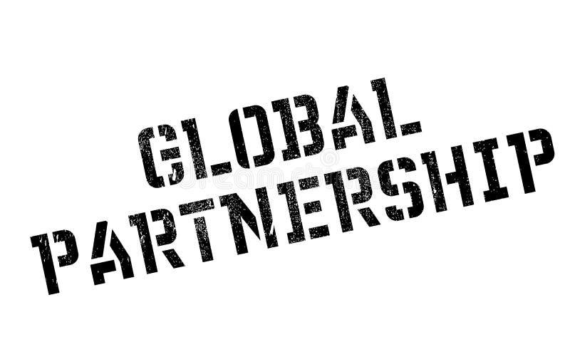 Rubber stämpel för globalt partnerskap vektor illustrationer