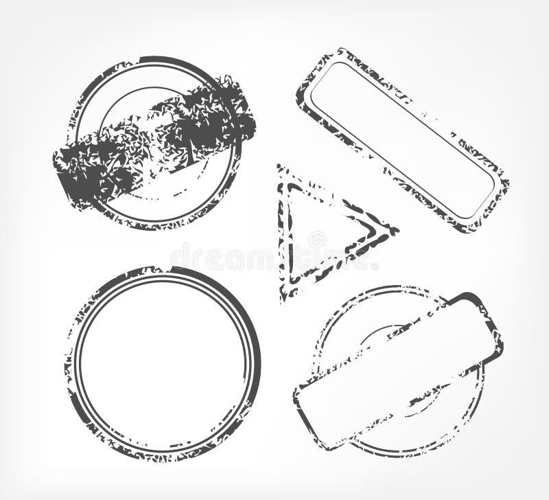 Rubber stämpel för Grunge stock illustrationer