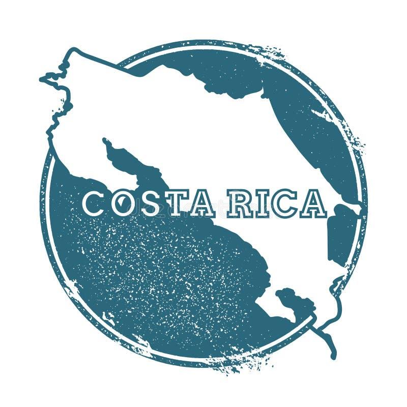 Rubber stämpel för Grunge med namn och översikten av costaen royaltyfri illustrationer