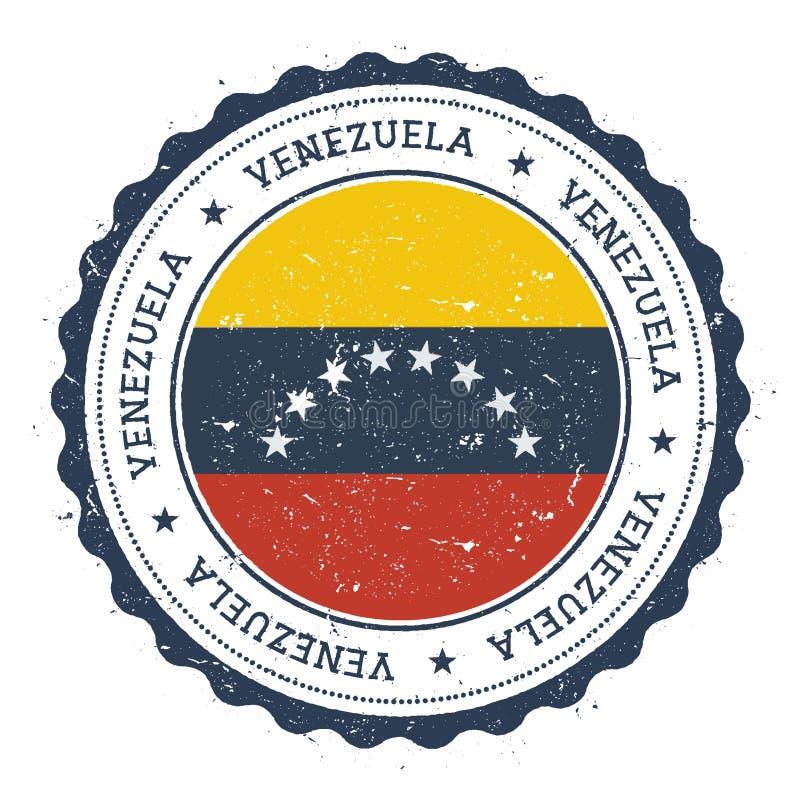 Rubber stämpel för Grunge med Venezuela, Bolivarian royaltyfri illustrationer