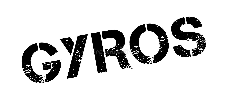 Rubber stämpel för gyroskop stock illustrationer