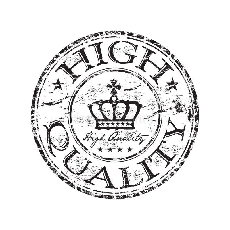 rubber stämpel för highquality royaltyfri illustrationer
