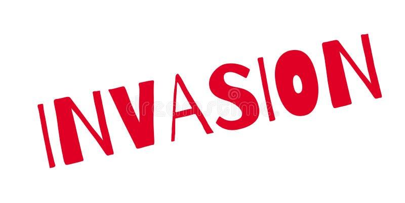 Rubber stämpel för invasion stock illustrationer
