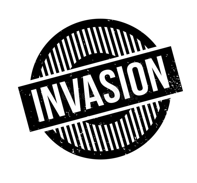 Rubber stämpel för invasion vektor illustrationer