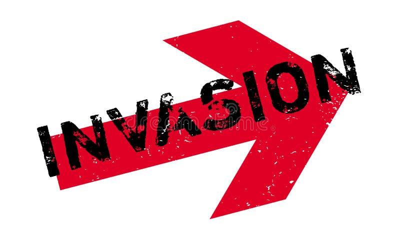 Rubber stämpel för invasion royaltyfri illustrationer