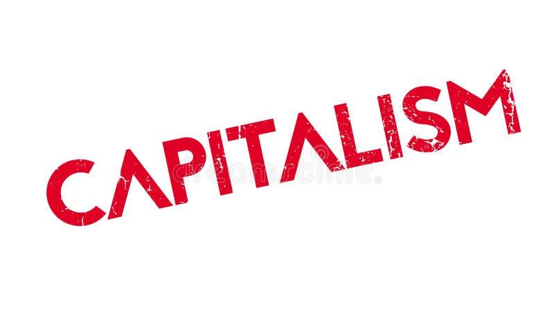 Rubber stämpel för kapitalism royaltyfri illustrationer