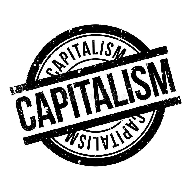 Rubber stämpel för kapitalism stock illustrationer