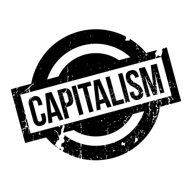 Rubber stämpel för kapitalism vektor illustrationer