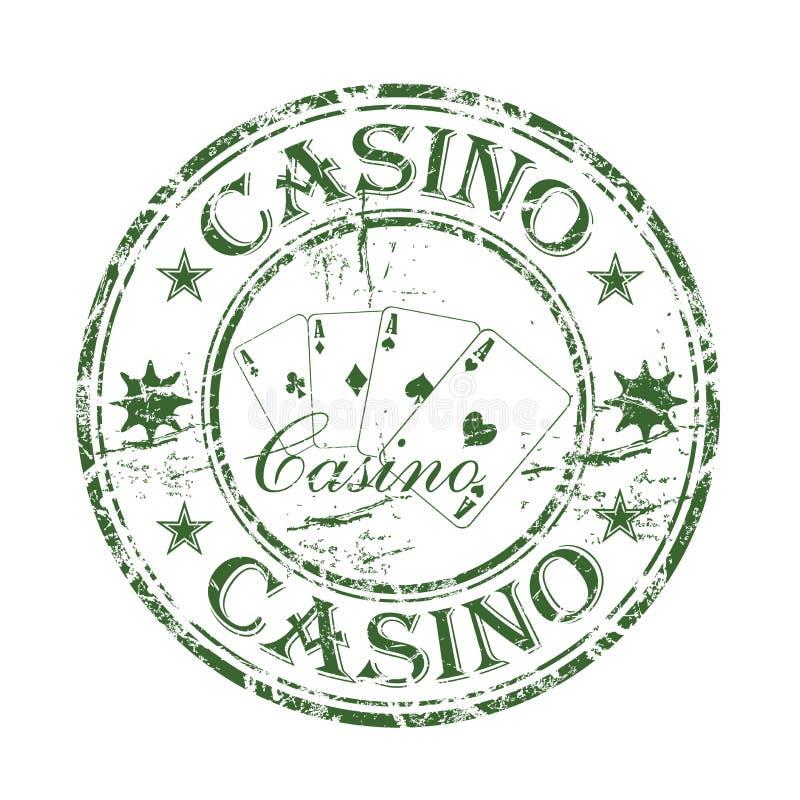 rubber stämpel för kasino stock illustrationer