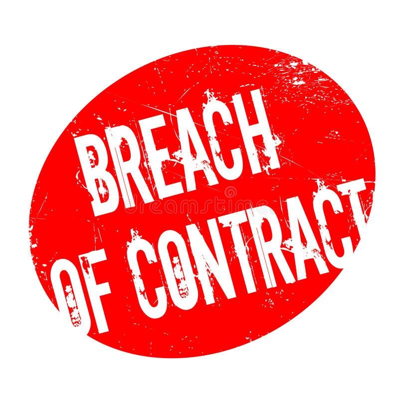 Rubber stämpel för kontraktsbrott stock illustrationer