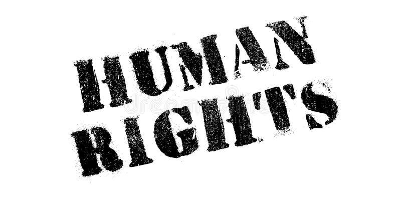 Rubber stämpel för mänskliga rättigheter royaltyfri bild
