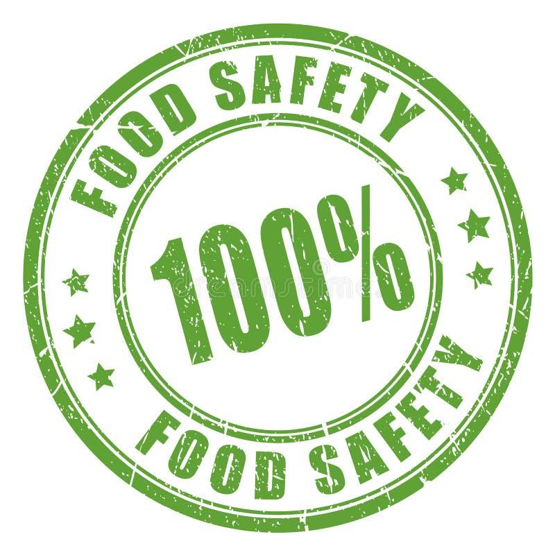 Rubber stämpel för matsäkerhet stock illustrationer