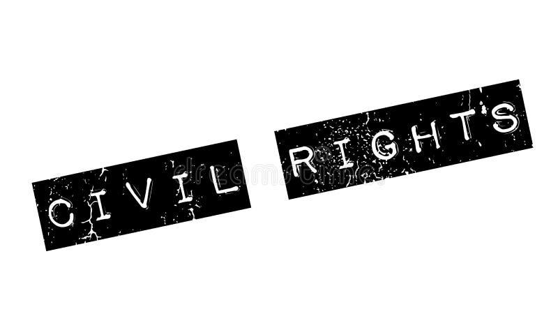 Rubber stämpel för medborgerliga rättigheter vektor illustrationer